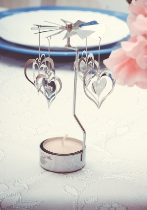 Candle Holder with Hearts