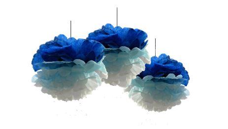 Ombre PomPoms (BLUE) Craft Kit