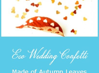 Eco Wedding Confetti made of Autumn Leaves