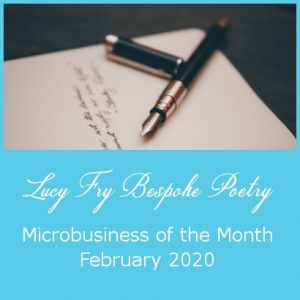 Microbusiness of the Month - Lucy Fry Bespoke Poetry