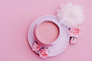 Pink Hot Chocolate in a cup