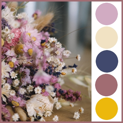 Colour Palette - Wedding Inspiration - Picture of Dried Flowers