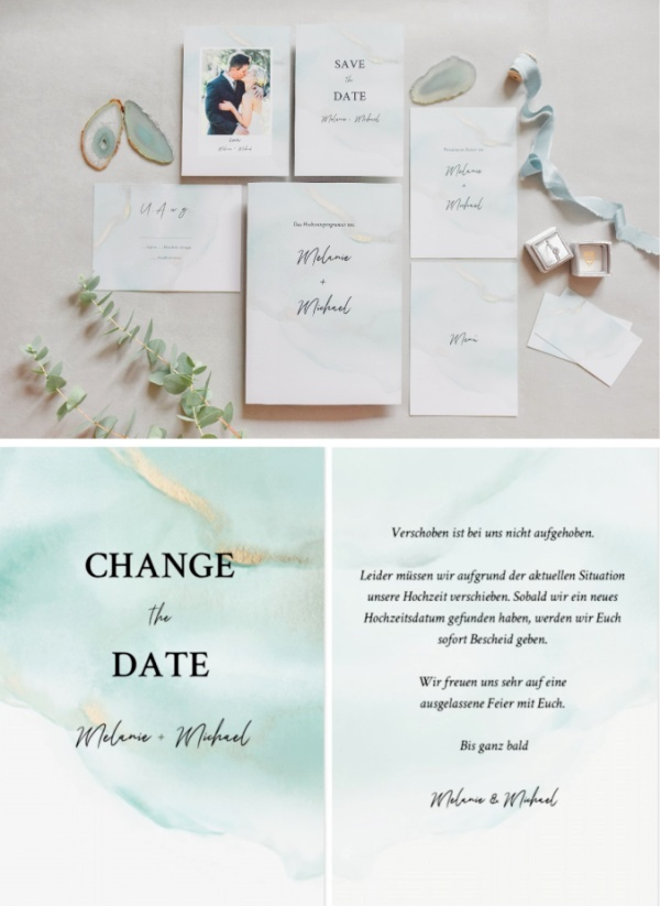 Change the Date - Wedding Stationery