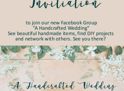 A Brand New Facebook Page: A Handcrafted Wedding