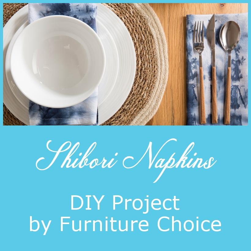 DIY Shibori Tie-Dye Napkins