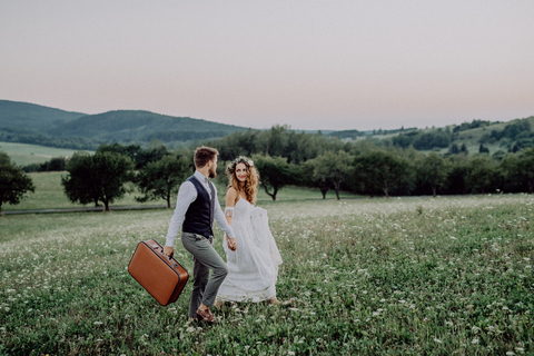 Bride and Groom Travelling